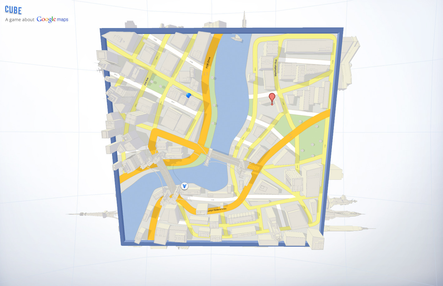 'Cube' Google Map Graphical Toy
