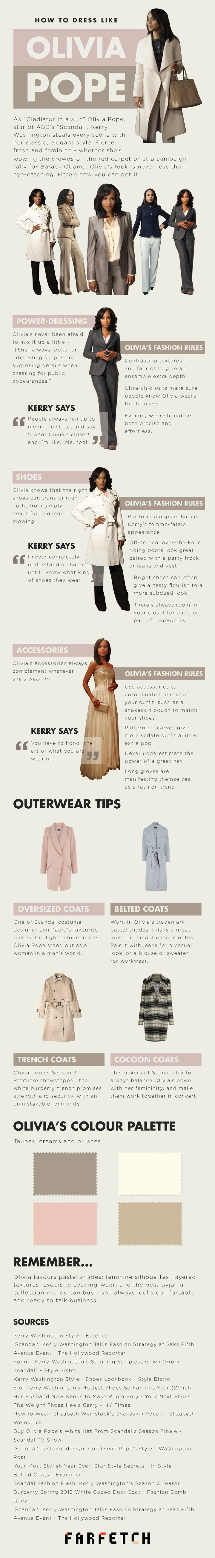 How to Dress Like Olivia Pope? [Infographic]