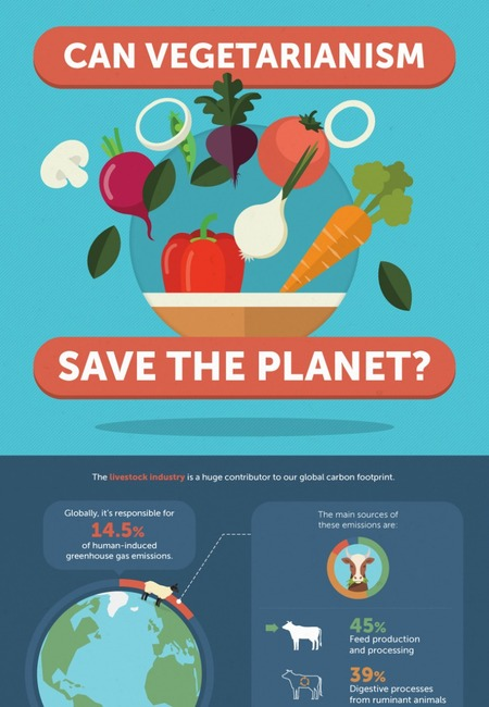 Infographic can vegetarianism save the planet
