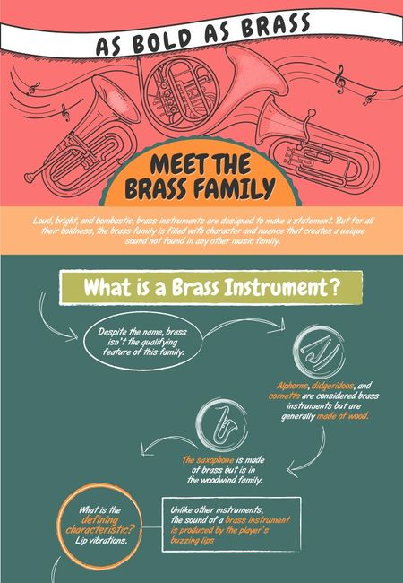 Brass family infographic