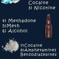 Top 10 most addictive drugs infographic