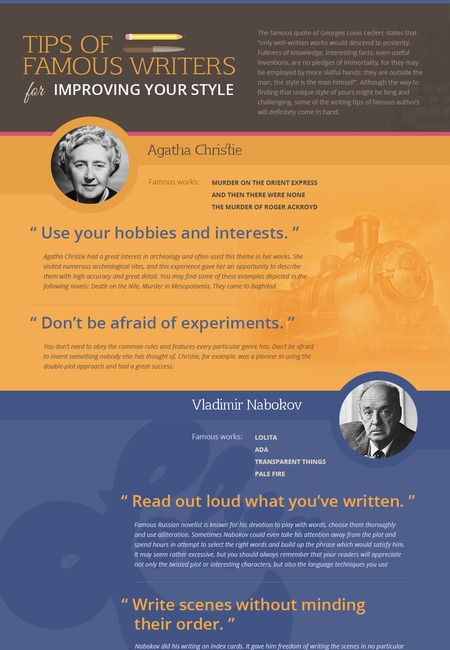 Writers tips infogr good