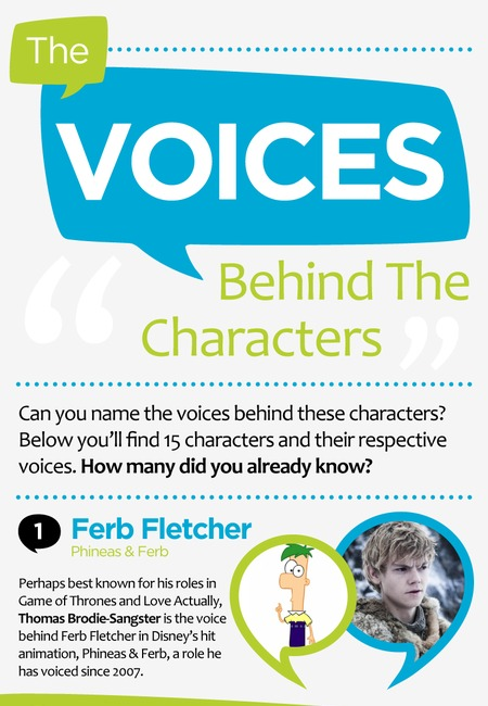 The voices behind the characters