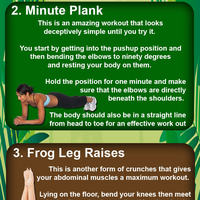 5 ways to flatten your stomach infographic