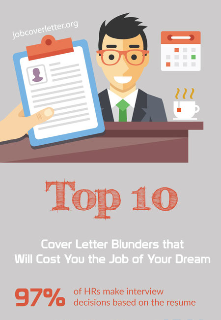 Top 10 cover letter blunders that will cost you the job of your dream