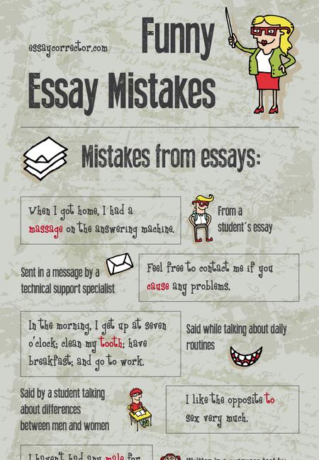 Funny essay mistakes