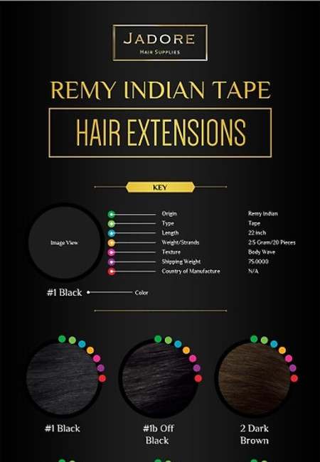 Remy indian tape hair extensions