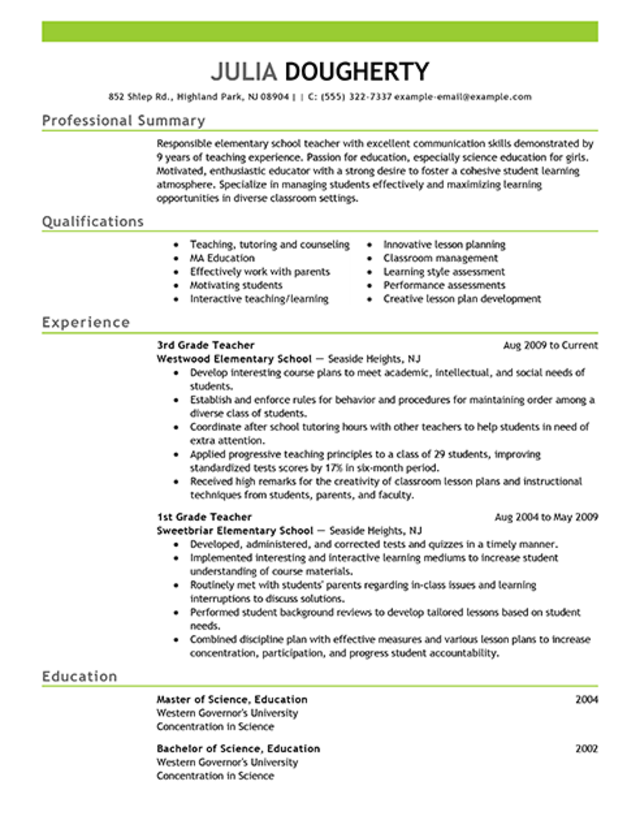 Science Teacher Cv  Science Teacher Resume