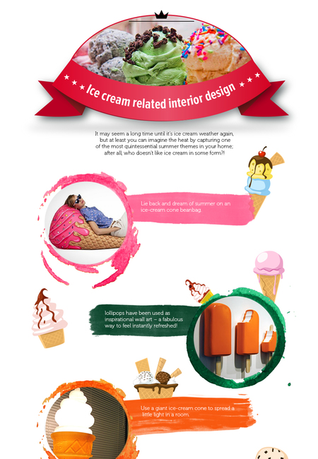 Ice cream related interior design