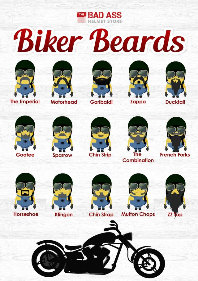 Minion biker beards from the badass helmet store