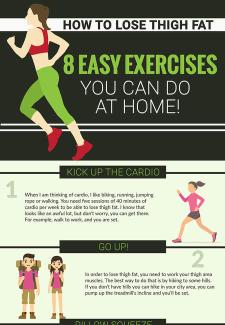 8 easy exercise infographic