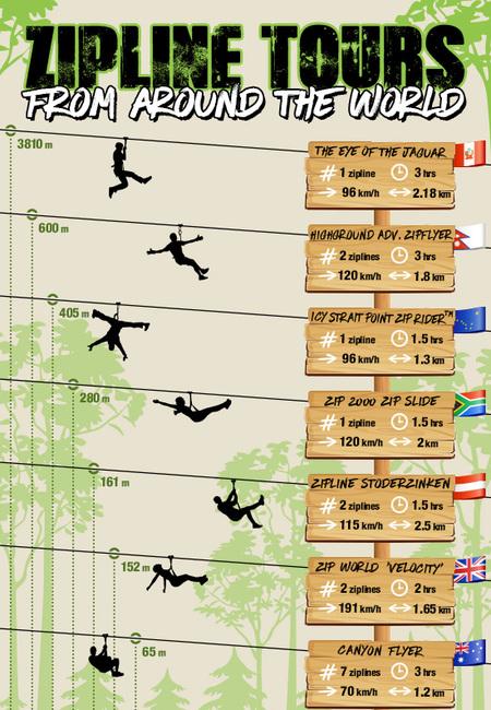 Zipline tours infographic