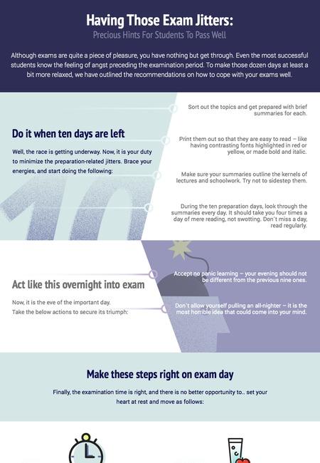 Infographics having those exam jitters