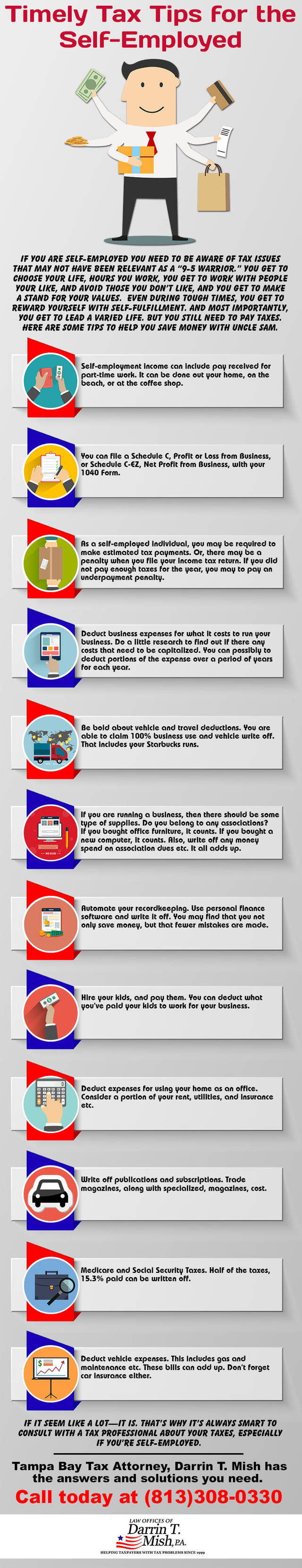 Infographic 123 timely tax tips for the self employed