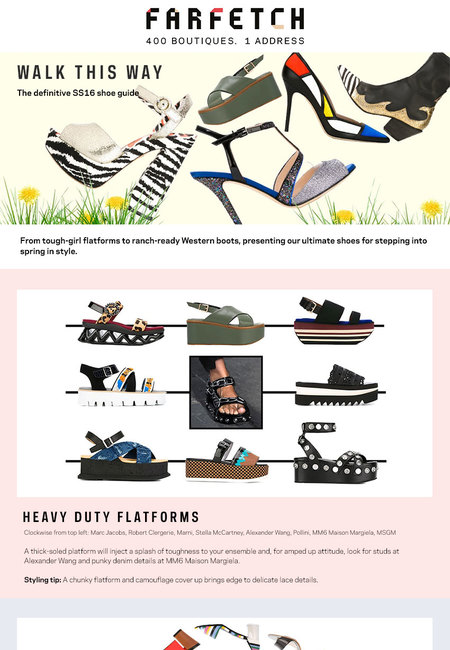 Shoes editorial infographic