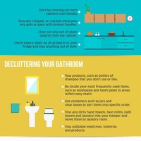 Declutter your home for healthier living infographic