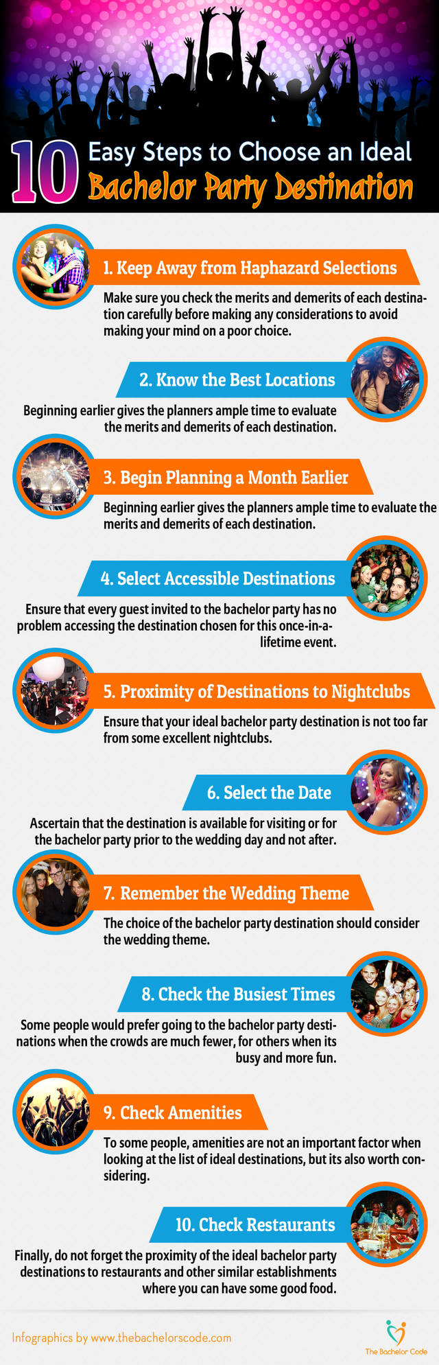 Ten easy steps to choose an ideal bachelor party destination