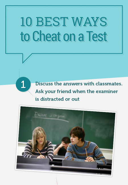 10 best ways to cheat on a test without getting caught