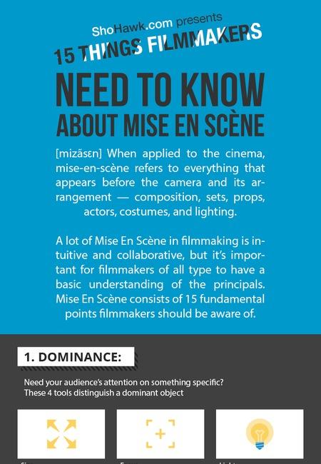 Mise en scene infographic