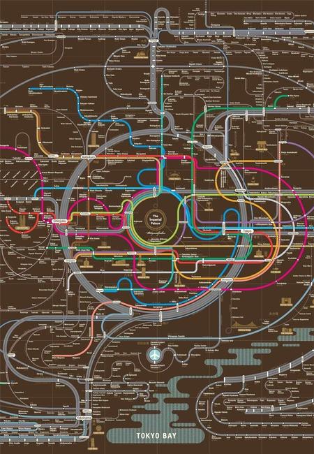 Tokyo railway city map copy