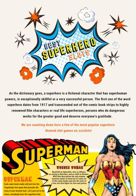 Infographic best superheros slots zzzslots 1