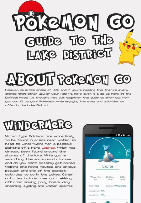 Pokemon go guide to the lake district infographic