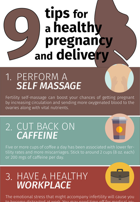 9 ways to achieve natural healthy pregnancy infographic
