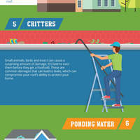 10 most common roofing problems infographic