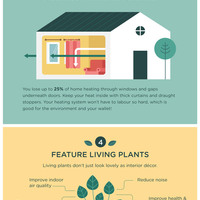 Easy eco friendly ideas infographic