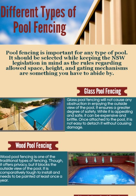 Different types of pool fencing