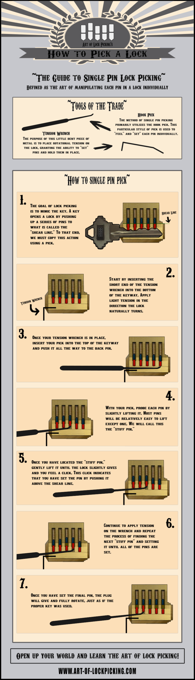 Single pin picking infographic