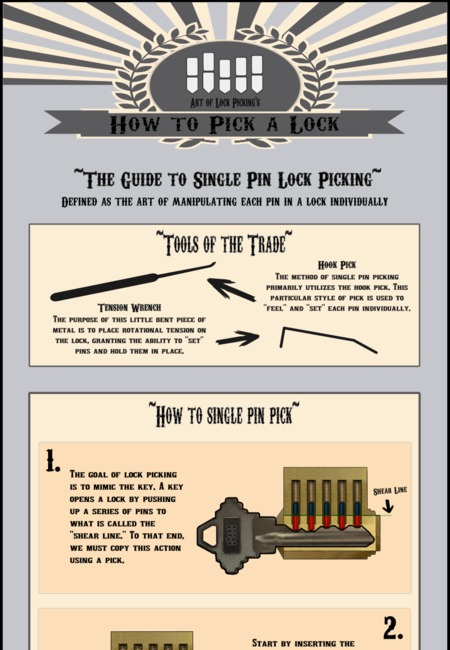 Single pin picking infographic