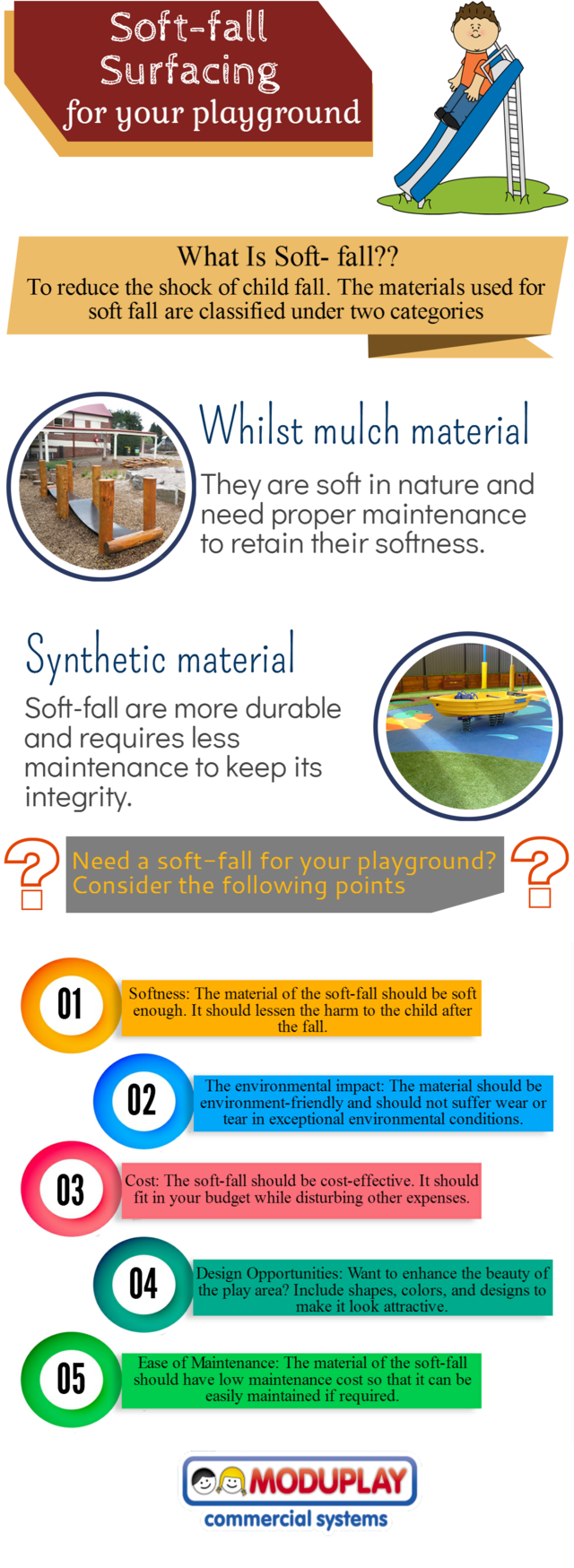 Soft fal surfacing for your playground