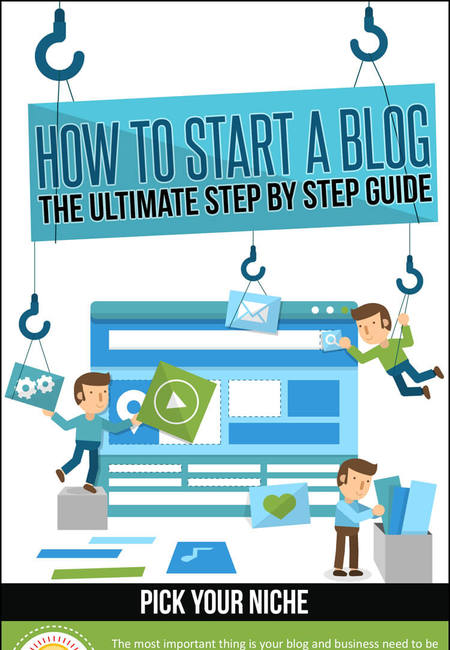 How to start a blog infographic