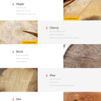 Seminee types of wood