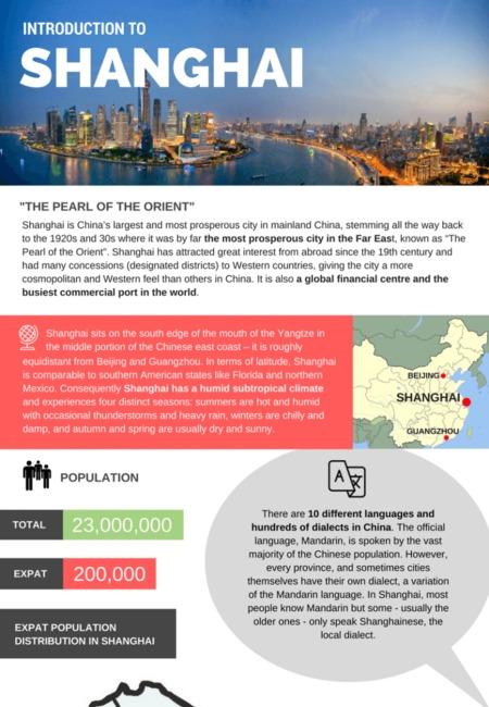 Infographic introduction to shanghai