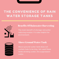 The convenience of rain water storage tanks