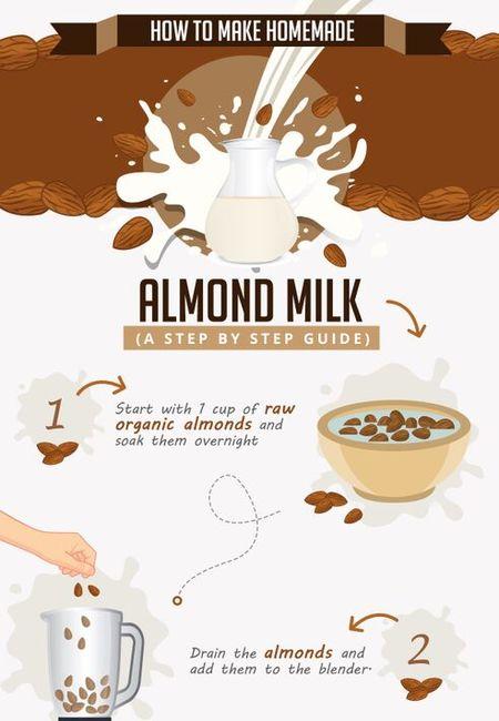 Almond milk infographic