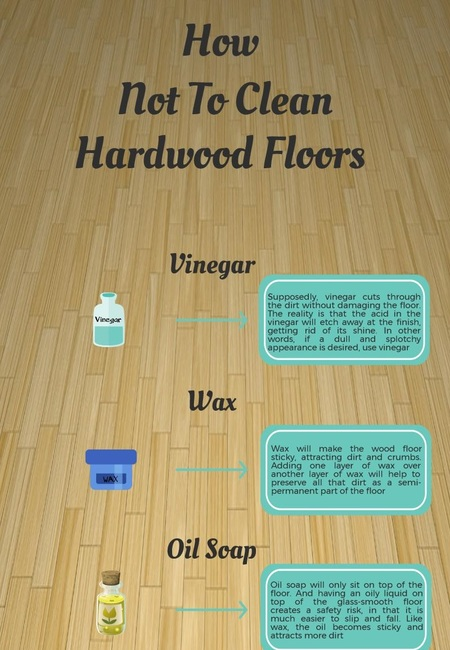 How not to clean hardwood floors