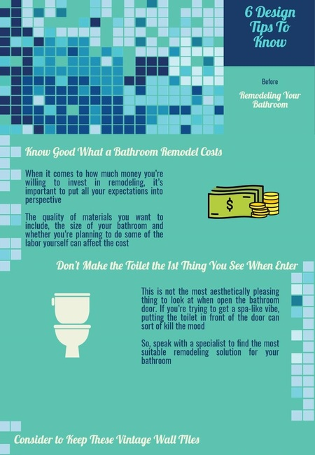 6 design tips to know before remodeling your bathroom