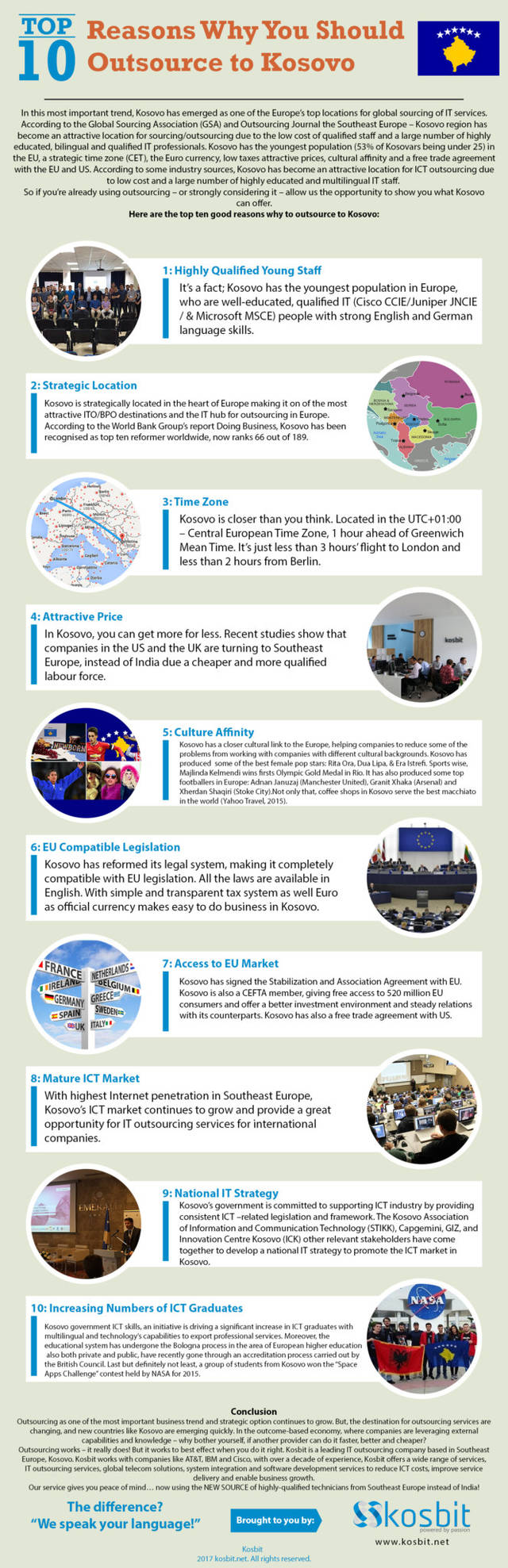 Top 10 reasons why you should outsource to kosovo kosbit infographic