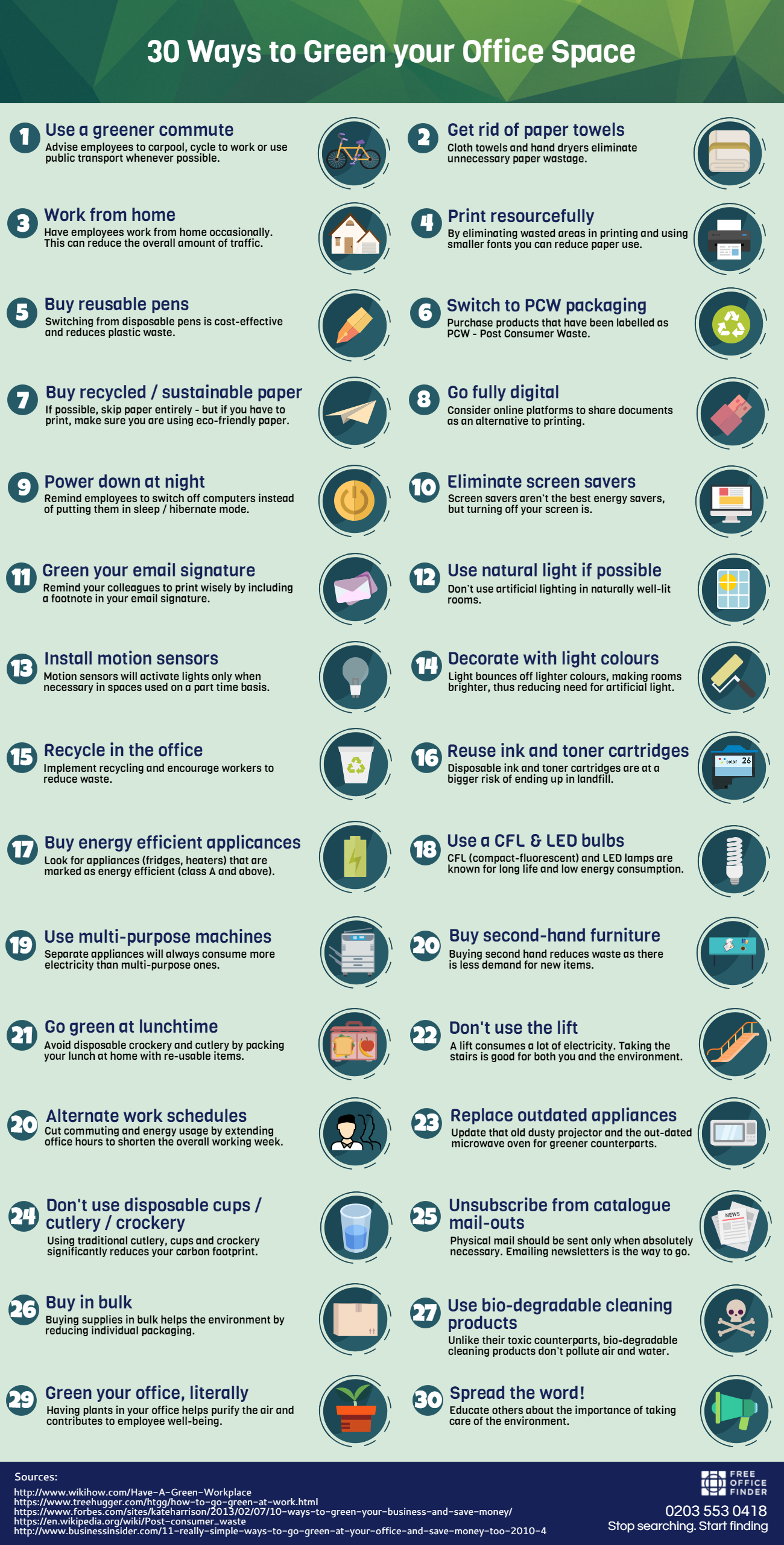30 Ways to Green Your Office Space
