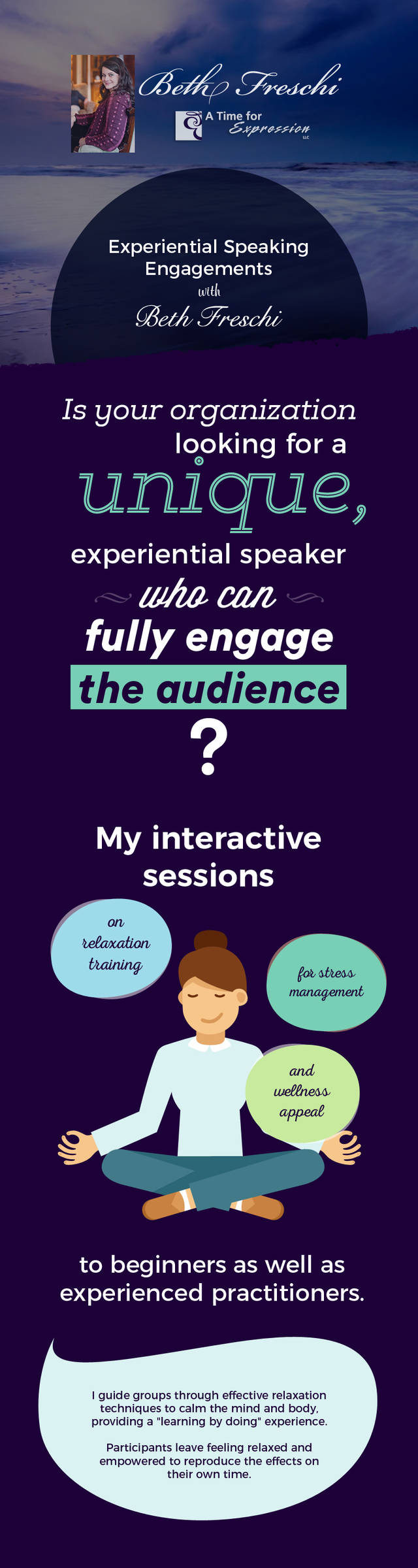 Join speaking engagements sessions at a time for expression  llc