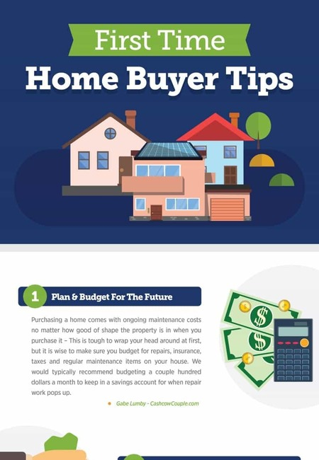 Top 10 tips for new home buyers infographic