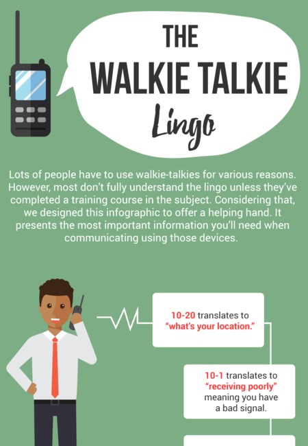 Walkie talkie lingo infographic