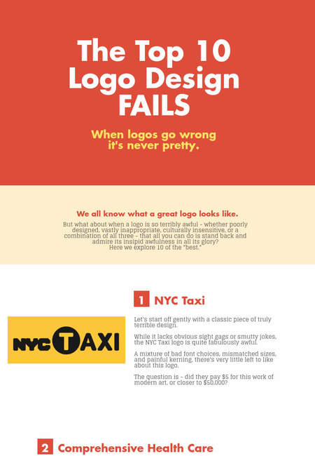 Top 10 logo fails infographic