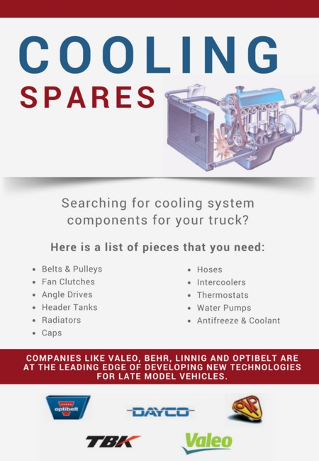 Cooling spares