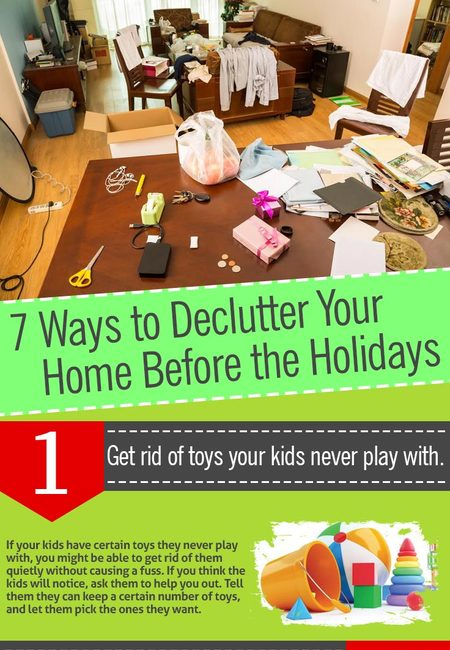 Decluter your home infographic