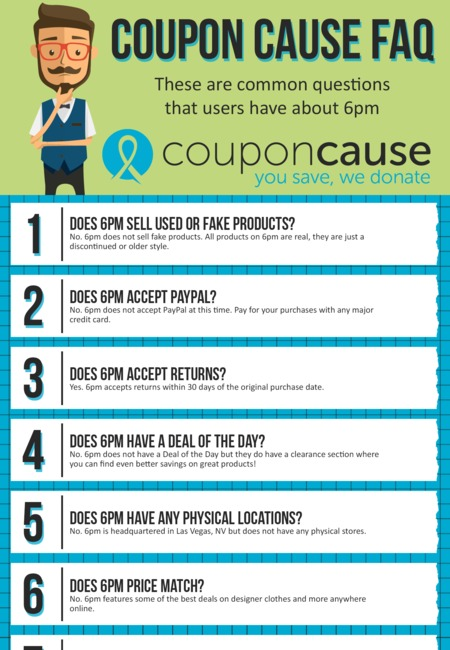 6pm com coupons infographic