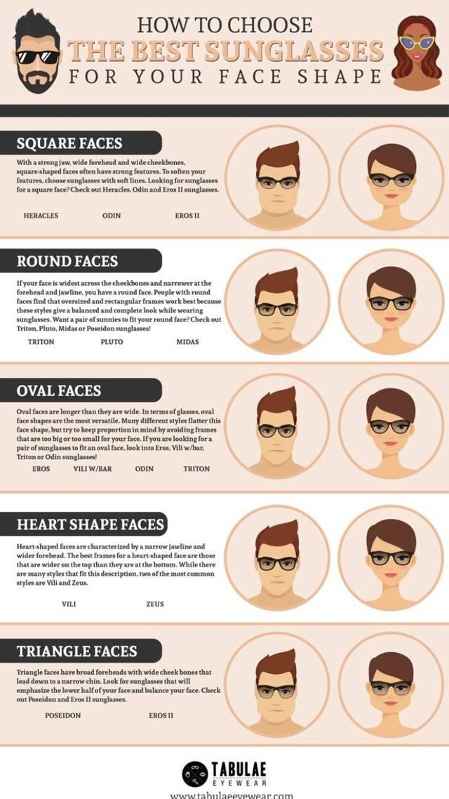 Sungalsses for face shape